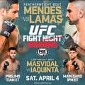 TDMMA: UFC Fight Morning: Mendes vs Lamas mérkőzések videói