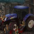 Zombis traktoros játék
