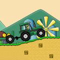 Máriós traktoros játék
