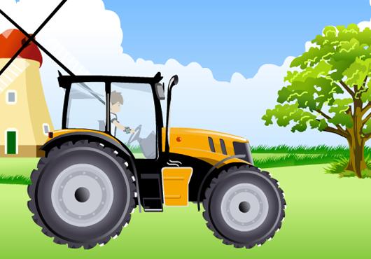 Traktoros ügyességi játékok