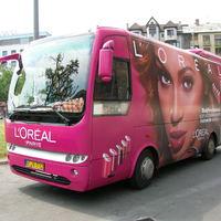 A L'Oréal bemutatja: Beyoncé Budapesten autóbusszal