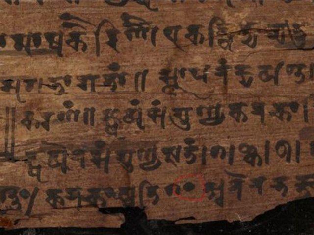 Az eddig véltnél jóval idősebb Bakhsáli kéziratban jelent meg a legelső ismert nulla szám