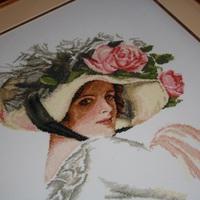 Keresztszemes - Florentin kalapos hölgy