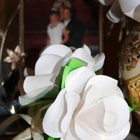 Ajándék rózsa papírból