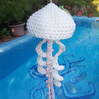 Horgolt medúza