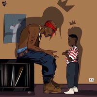 Tupac Shakur beszélget Kendrick Lamarral