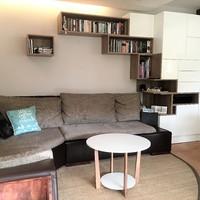 Játékos minimalista nappali szekrényünk