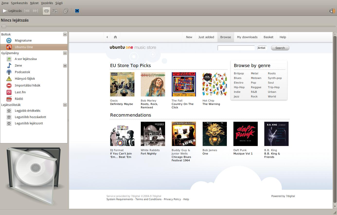 bejelentkezés az Ubuntu One zeneboltba