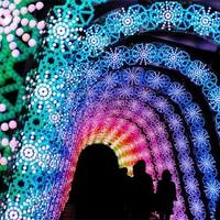 Gyönyörű fénykiállítás Japánban