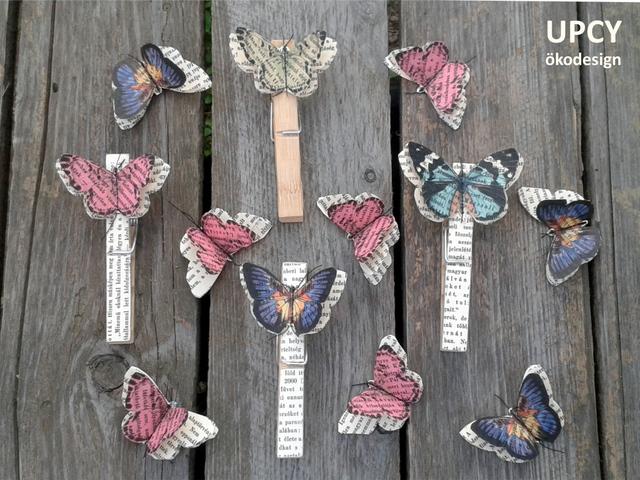 Pillangó szökése a lapokról, avagy hűtőmágnes régi könyvből
