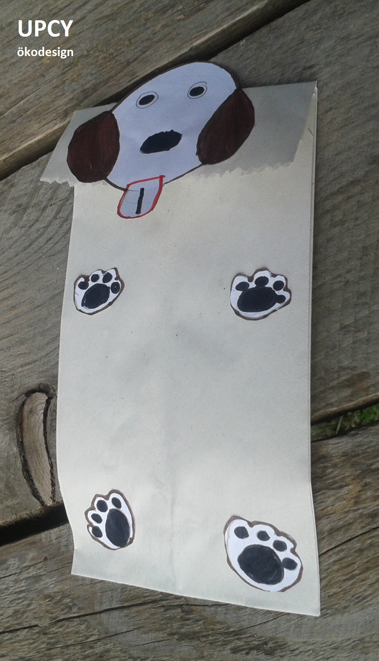Állatos ajándéktasak papírzacskóból DIY