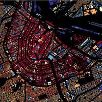 Gyönyörű térkép, amin Hollandia összes háza rajta van. Igen, közel 10 millió épület!