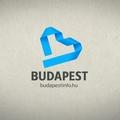 Kék szalagból hajtogatott B betű Budapest új logója