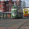 Emeletes villamos és furcsa közvilágítás Blackpoolban