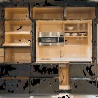 Napi hülyén kiforgatható lakberendezési tárgy: a falra szerelt konyha