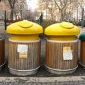 Budapest egyik legbájosabb szelektív hulladékgyűjtője elég ramaty állapotban van