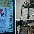 A nap képe: falragaszokon hirdetik az Urbanista Városnegyed-bajnokságát a József Attila-lakótelepen