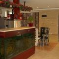 Konyhapultba épített óriásakvárium - ingatlansaláta