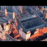 Drónfelvétel a leégett köröndi palotáról
