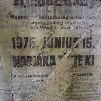 35 éves választási plakát a Logodi utcában