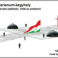 A Váralja Szövetség emlékhelye két nagy Szent Koronával ellensúlyozná az 56-osok terén a