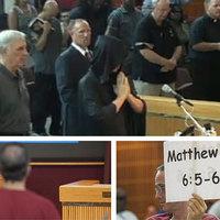 Sátánista ima és keresztény tiltakozás a városházán