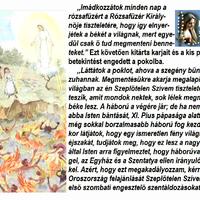 JÚLIUS 13. A HARMADIK FATIMAI JELENÉS EMLÉKNAPJA