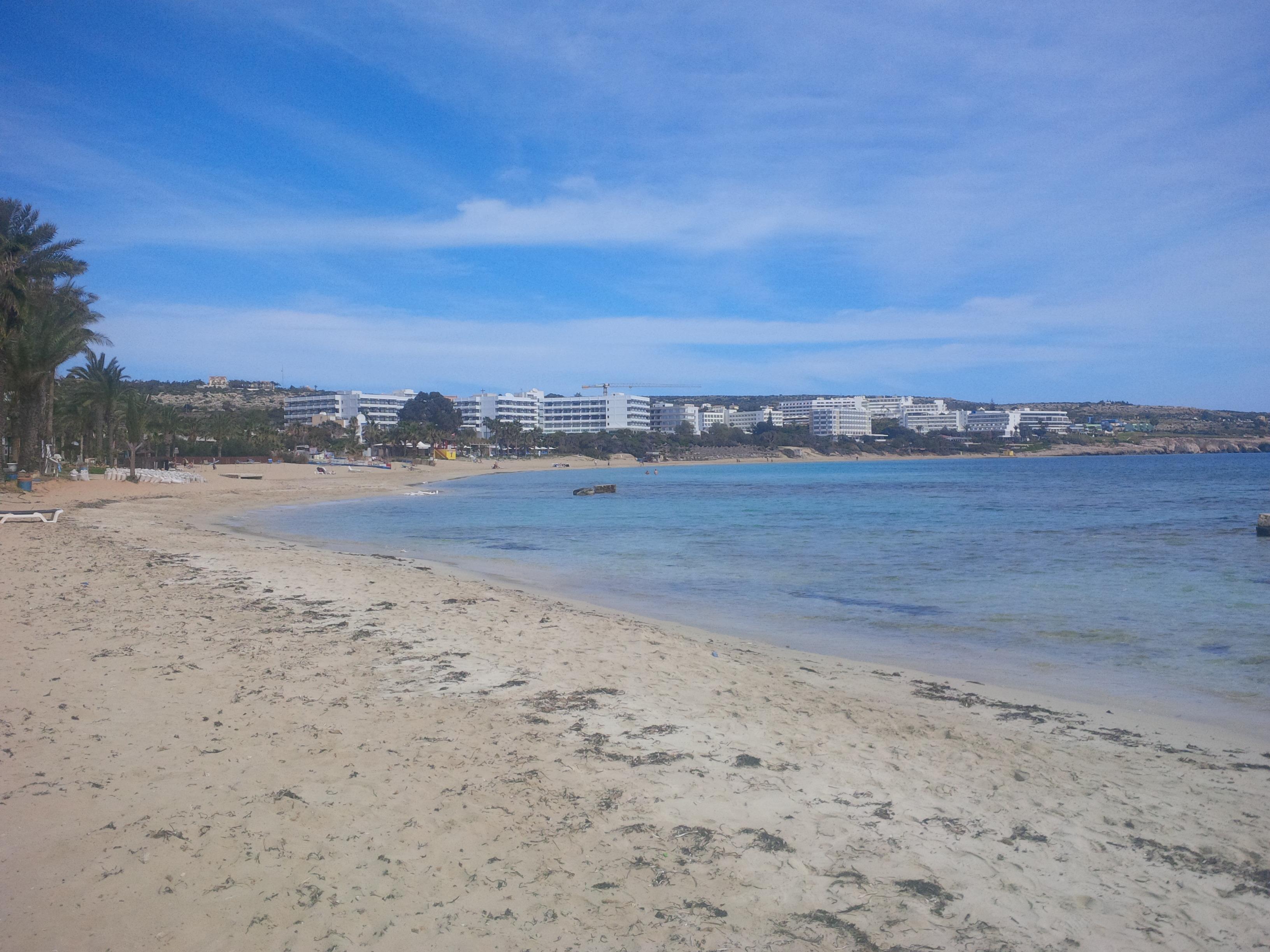 Ayia Napa homokos strandja