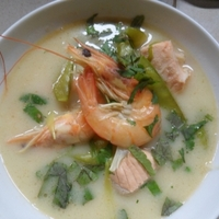 Thai halas garnélarák leves