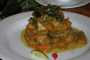 Thai curry hallal és sütőtökkel