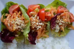 Thai zöld papaja saláta - SOM TAM
