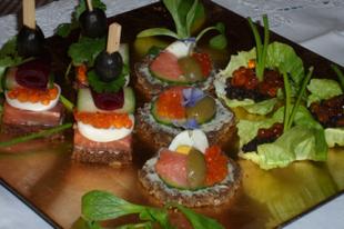 Lencse és kaviár elegáns kanapé receptek