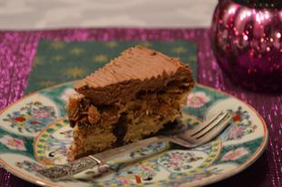 Lisztmentes mandulás csokoládés torta