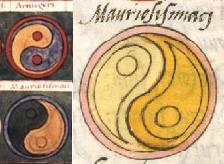Yin-yang jel a Notitia Dignitatumban (i.sz. V. század); forrás: Wikimedia Commons