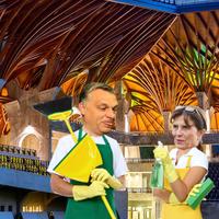 Orbán stadizóleumában közpénzből szedik a szotyihéjat