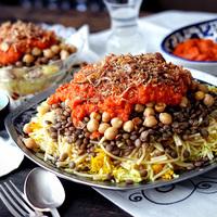Koshari, az egyiptomi street food
