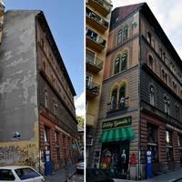 Tűzfalrehab: Megkezdődött a faldekoráció-dömping az Erzsébetvárosban