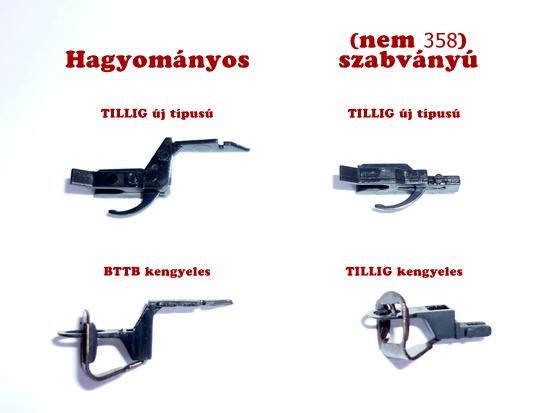 BTTB, TILLIG vagonkapcsolók(kuplungok)