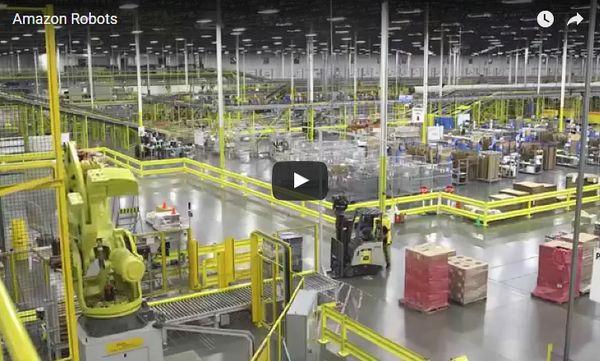 Ötven százalékkal több a robot az Amazon raktáraiban, mint tavaly