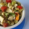 Lencsés brokkolis saláta