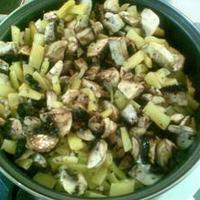 Gombás zöldbabos rizs