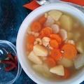 Sóba'-vízbe' krumplileves