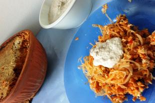 Rakott (savanyú)káposzta cserépedényben sütve (vegán)