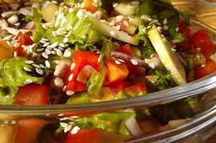 A nyár zöldségsalátája