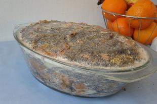 Almás-narancsos mákos guba jénaiban megsütve