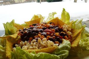 Mexikói babos kukorica tortillachipsszel
