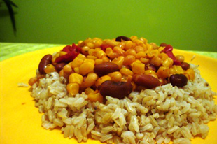Mexicói chilis bab barnarizzsel