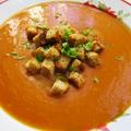 Currys sütőtökkrémleves fokhagymás krutonnal