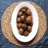 ráncos krumpli fűszeres túrókrémmel