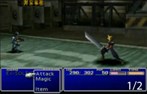 Final Fantasy 7 csatamenet